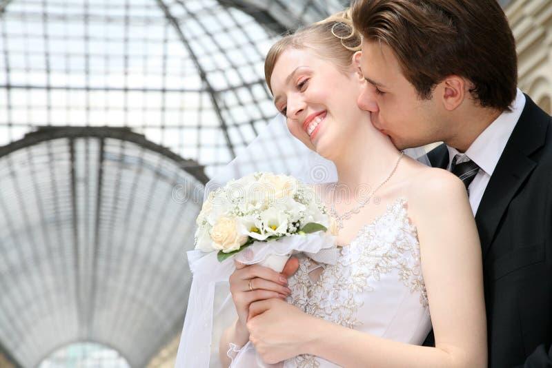 Verlobtes mit der Braut stockfotografie