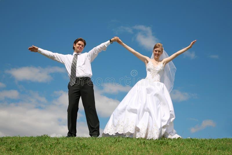 Verlobtes mit der Braut stockfoto