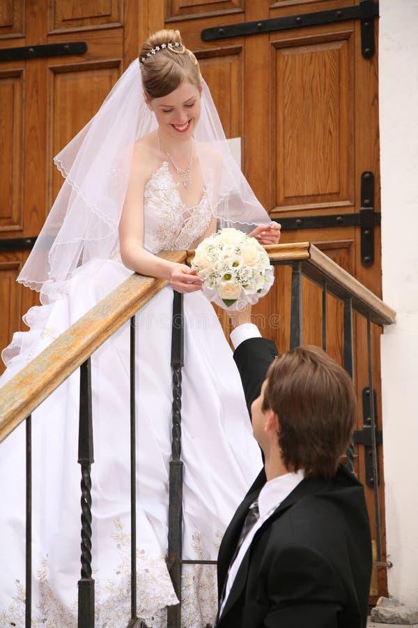 Verlobtes und die Braut lizenzfreies stockfoto