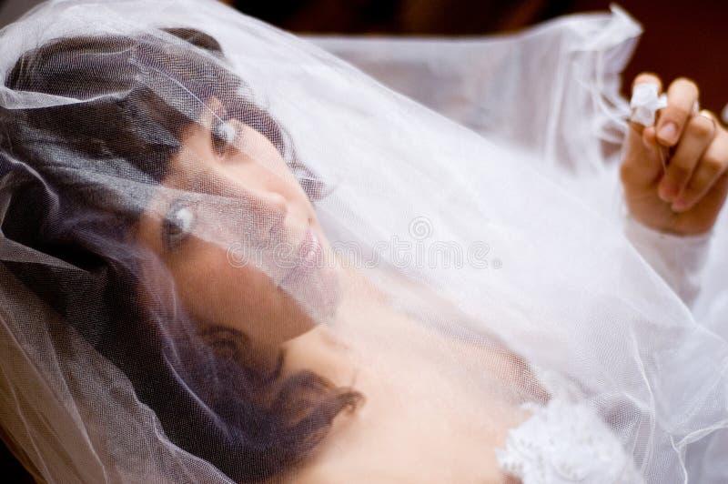 Verlobtes unter Schleier lizenzfreies stockfoto