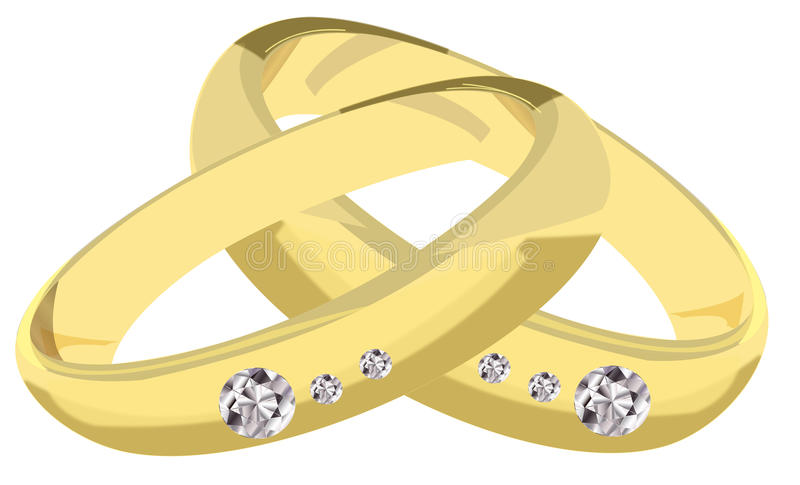 Verlobungsringe stock abbildung