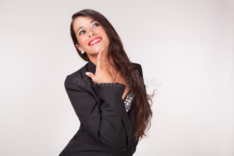 Verlockende junge Frau stockfoto