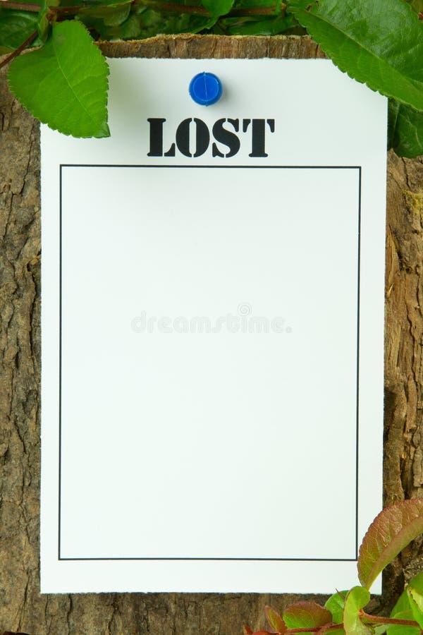 Verloren Bericht stock foto's