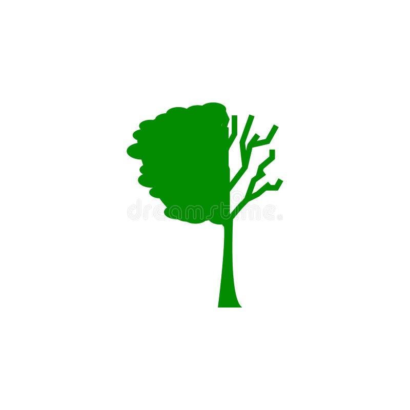verloren de boom verlaat groen pictogram Element van natuurbeschermingpictogram voor mobiel concept en Web apps Het geïsoleerde b stock illustratie