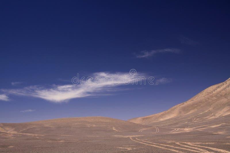 Verloren in de Landschappen van Atacama-woestijn stock afbeeldingen