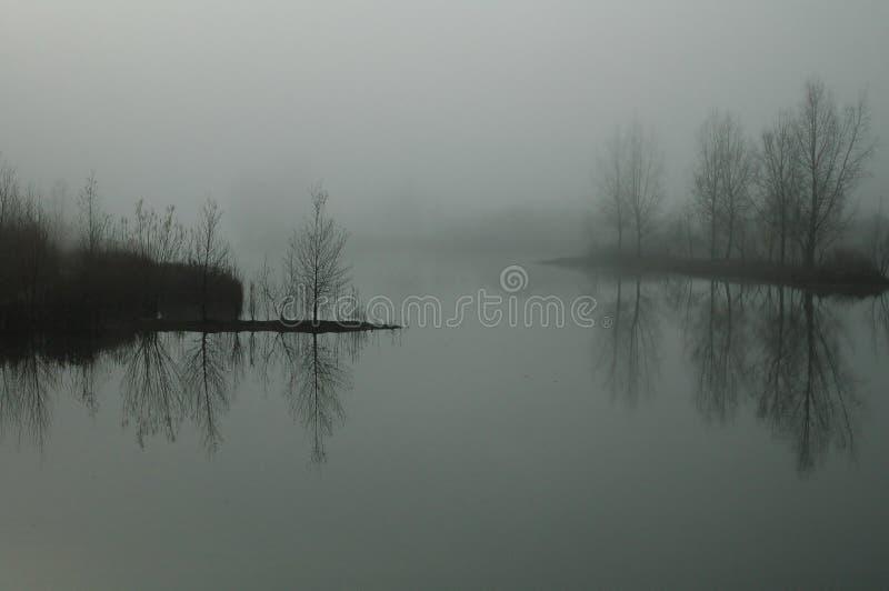 Verloren in de mist royalty-vrije stock foto