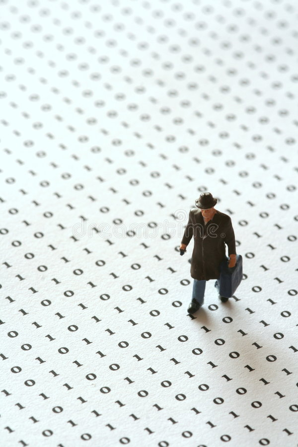 Verloren in der Matrix stockbilder