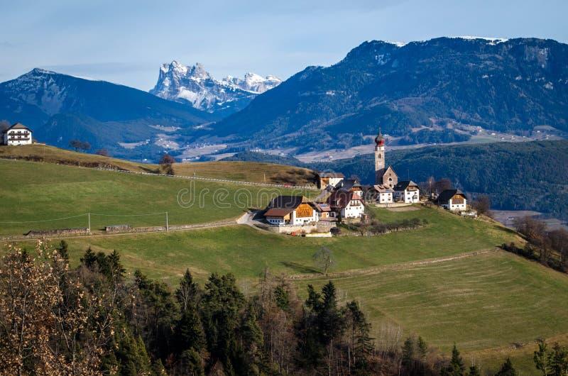Verloren in Dolomiet royalty-vrije stock afbeelding