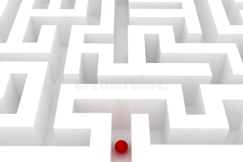 Verloren in einem Labyrinth lizenzfreie abbildung
