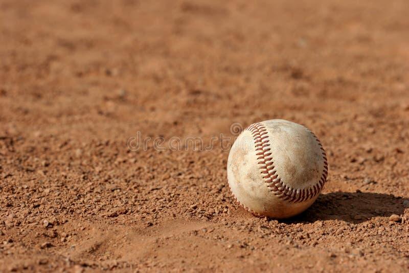 Verloren honkbal stock afbeelding
