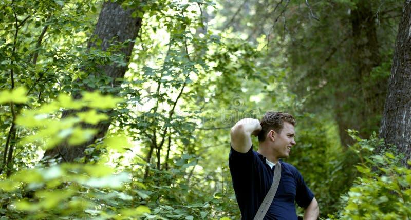 Verloren im Wald lizenzfreie stockbilder
