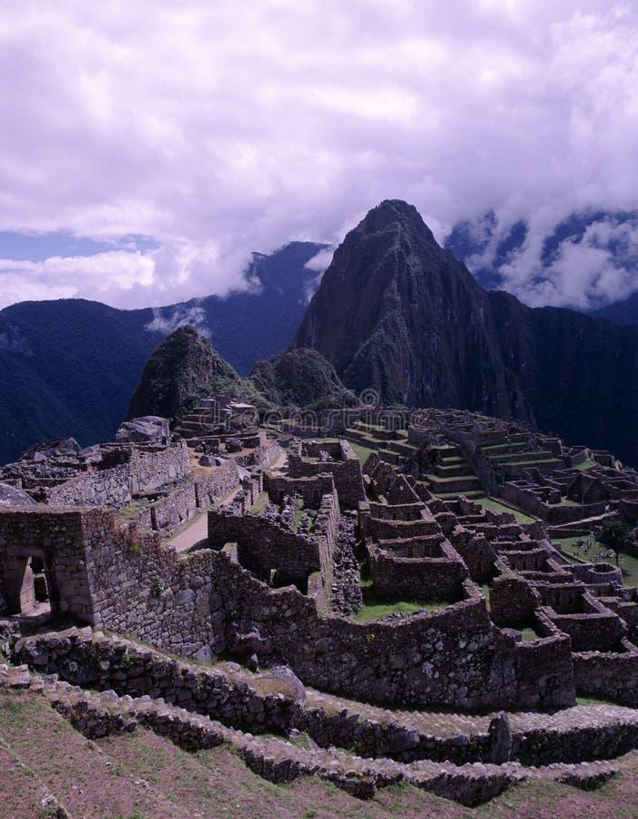 Verloren Incan Stad Machu Picchu, Peru stock foto's