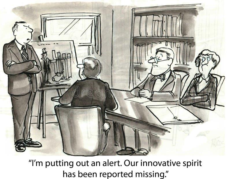 Verloren innovatie stock illustratie