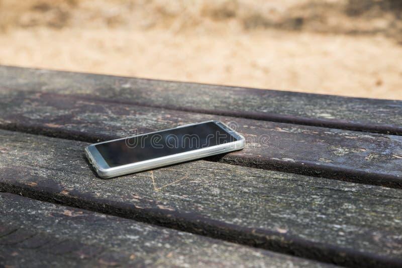 Verloren moblie telefoon royalty-vrije stock foto's