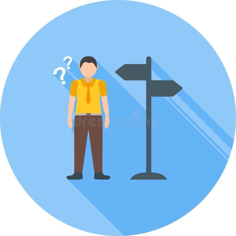 Verloren Richtingen vector illustratie