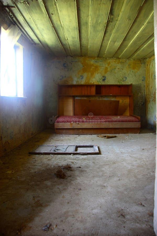 Verloren slaapkamer stock fotografie