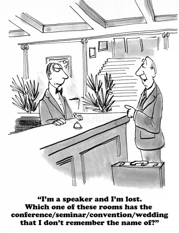 Verloren Spreker stock illustratie