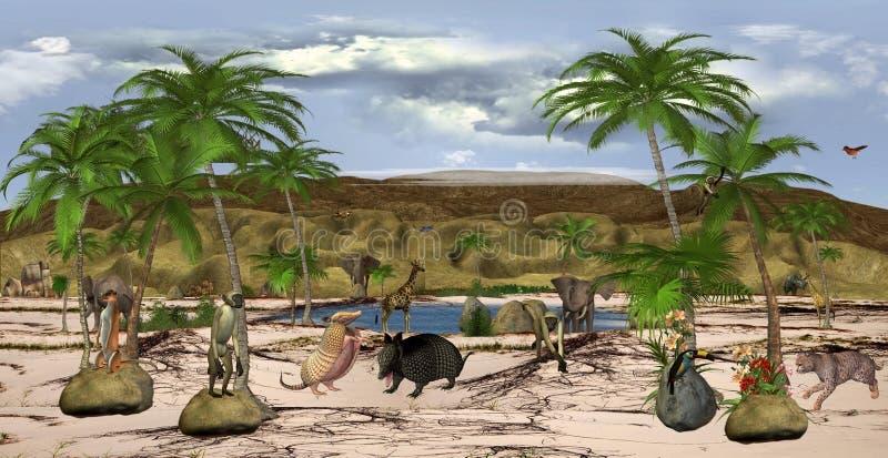Verloren woestijn royalty-vrije illustratie