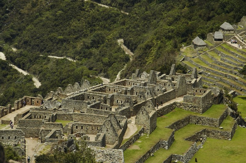 Verlorene Stadt Machu-Picchu in Peru lizenzfreie stockfotografie