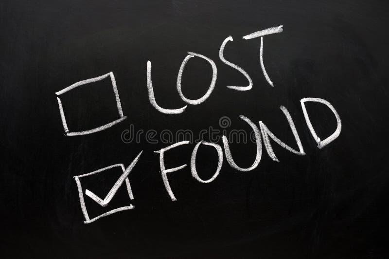 Verlorene und gefundene Checkkästen lizenzfreie stockfotos