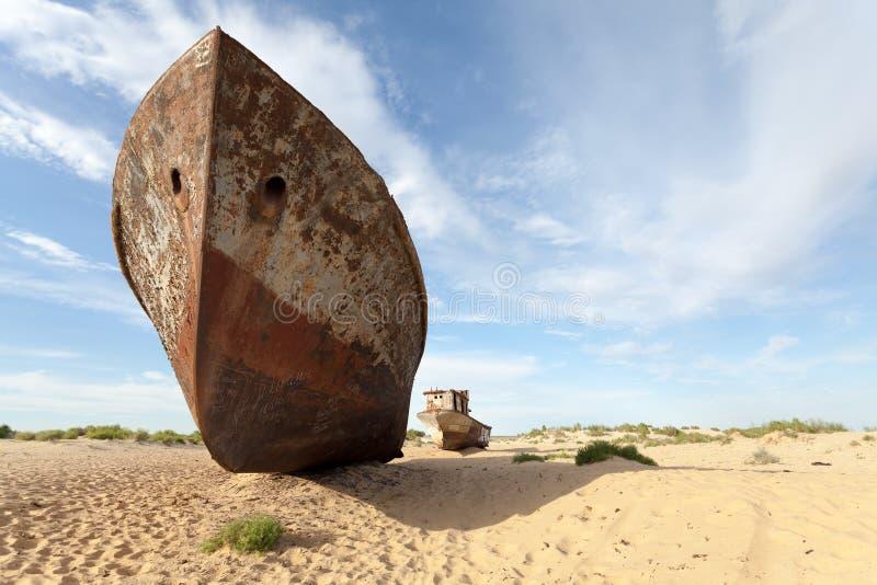 Verlorener Aralsee stockfotografie