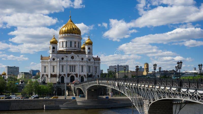 Verlosserkathedraal in Moskou royalty-vrije stock foto