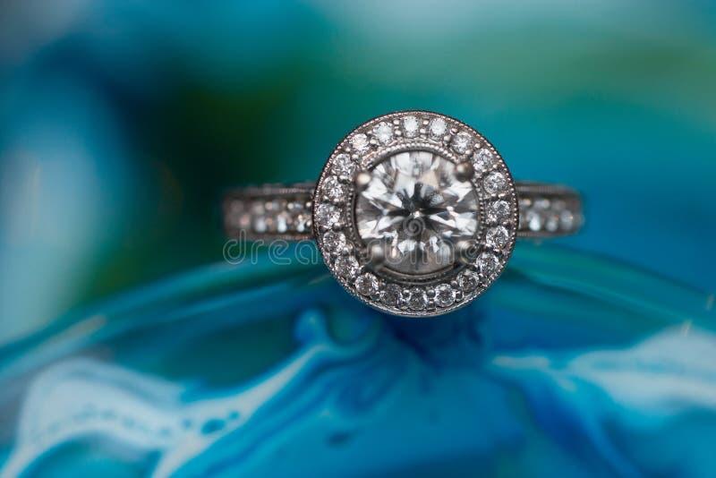 Verlovingsring royalty-vrije stock afbeelding