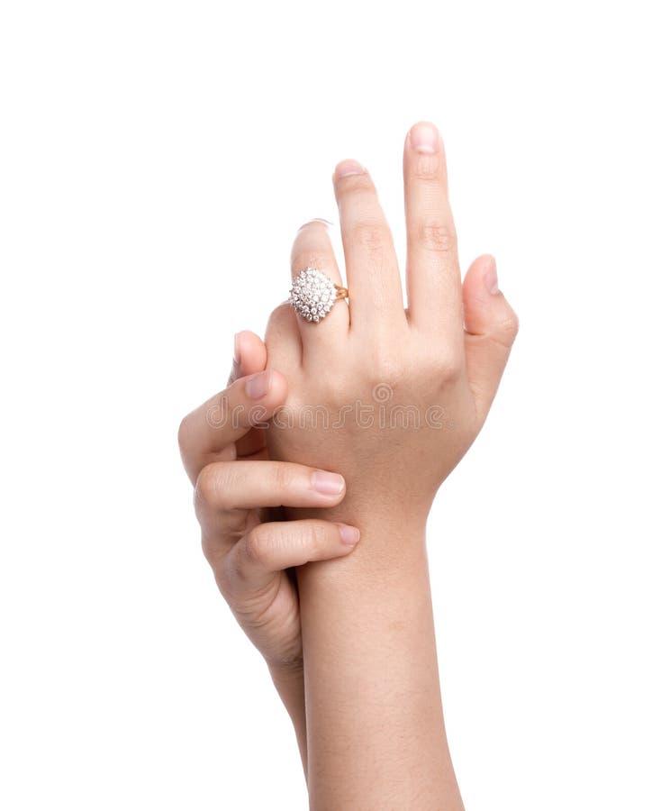 Verlovingsring ter beschikking royalty-vrije stock foto