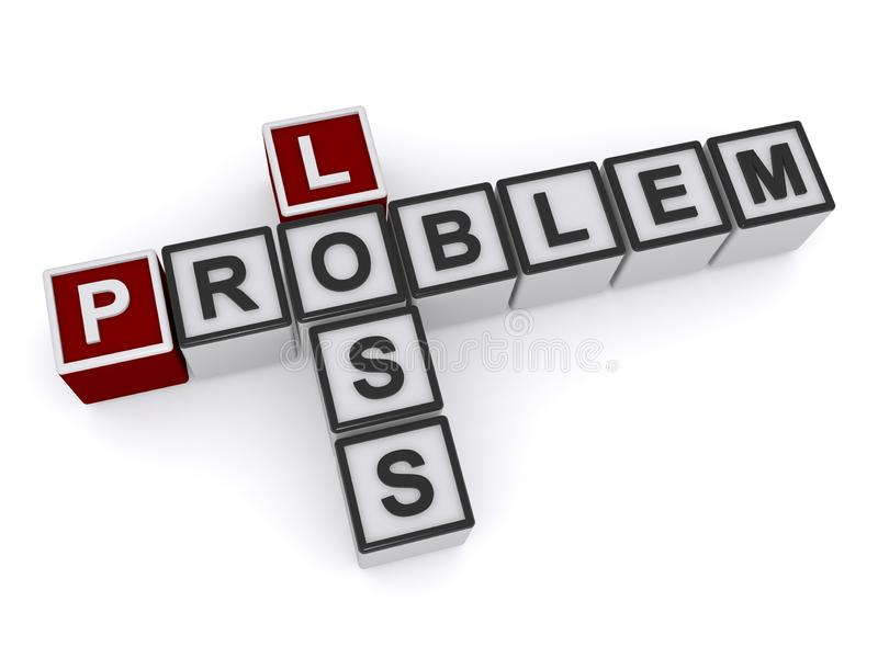 Verlustproblem lizenzfreie abbildung