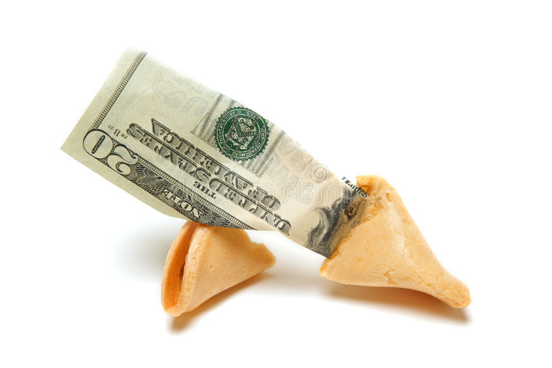 Vermögensplätzchen lizenzfreie stockbilder