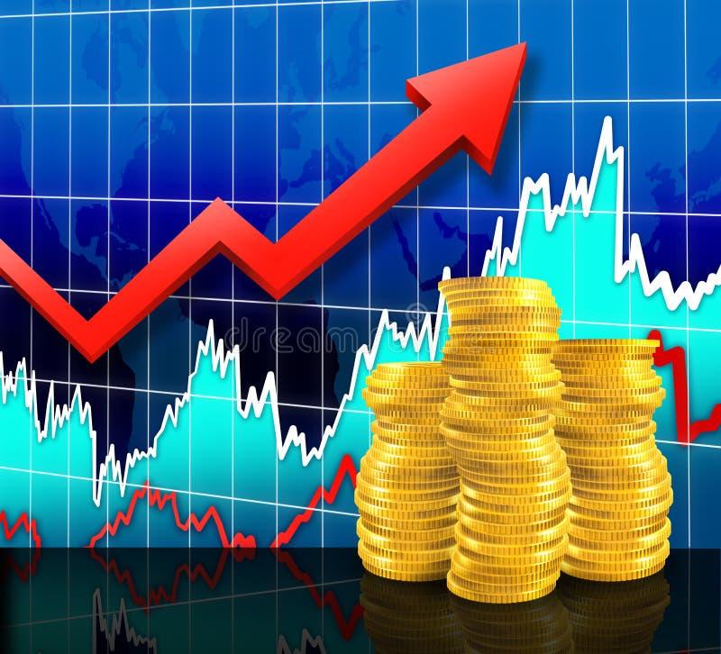 Vermarkten Sie Einkommen lizenzfreie abbildung