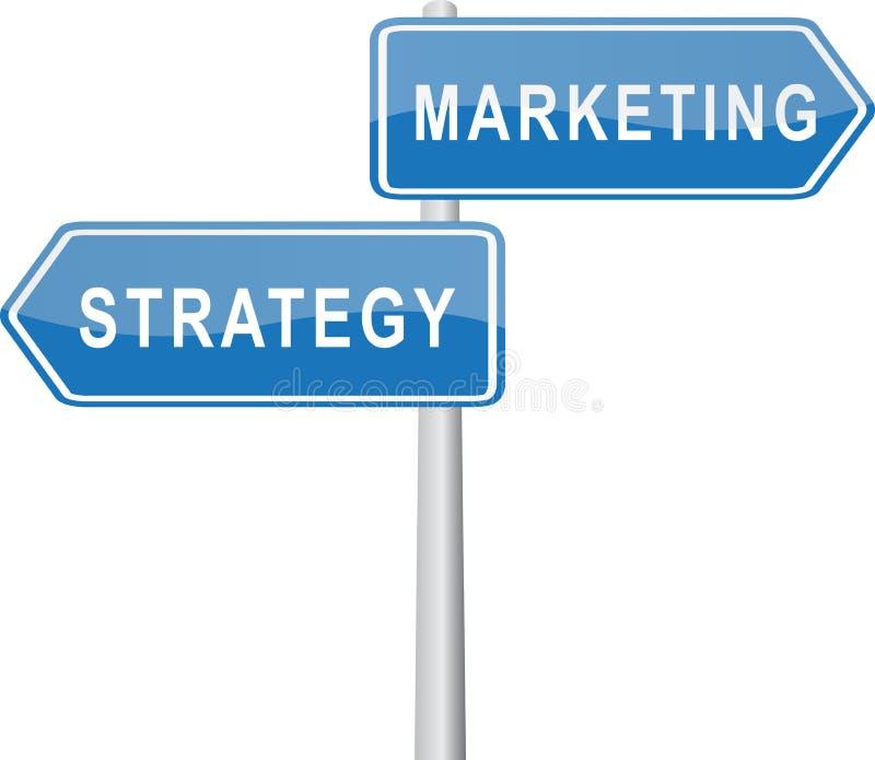 Vermarkten - Strategie lizenzfreie abbildung