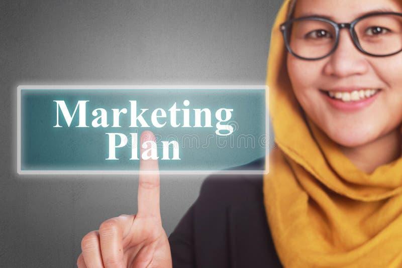Vermarktungsplan, Geschäfts-Motivwort-Zitat-Konzept lizenzfreies stockbild