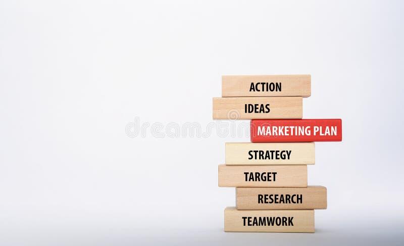 Vermarktungsplan-Konzept stockbild