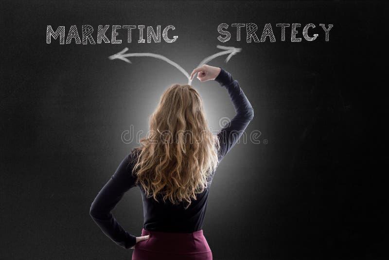Vermarktungsplan oder Strategie stockfotos