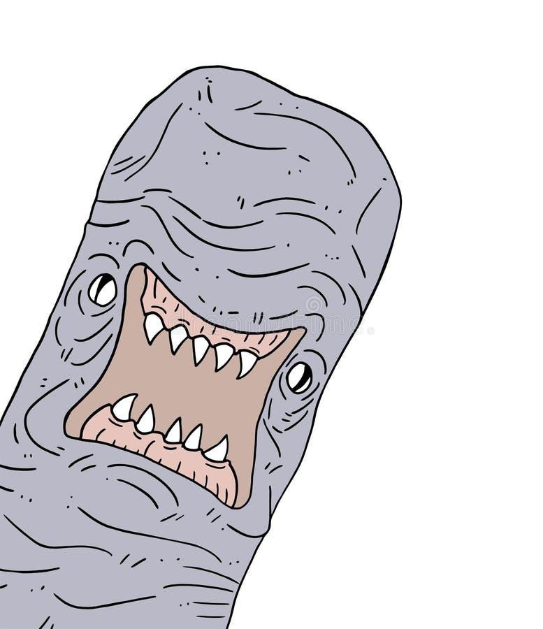 Verme mutante arrabbiato illustrazione di stock