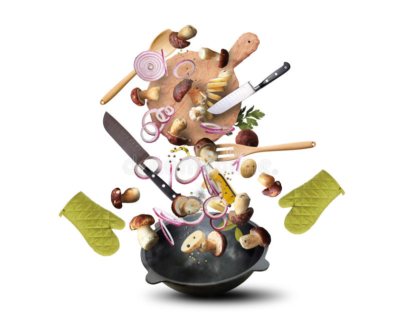 Vermehrt sich cookink explosionsartig stockfotos