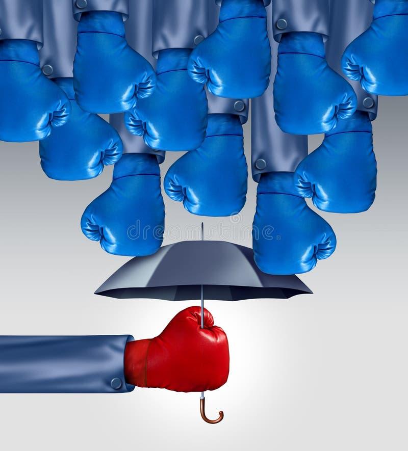 Vermeiden Sie Wettbewerb stock abbildung