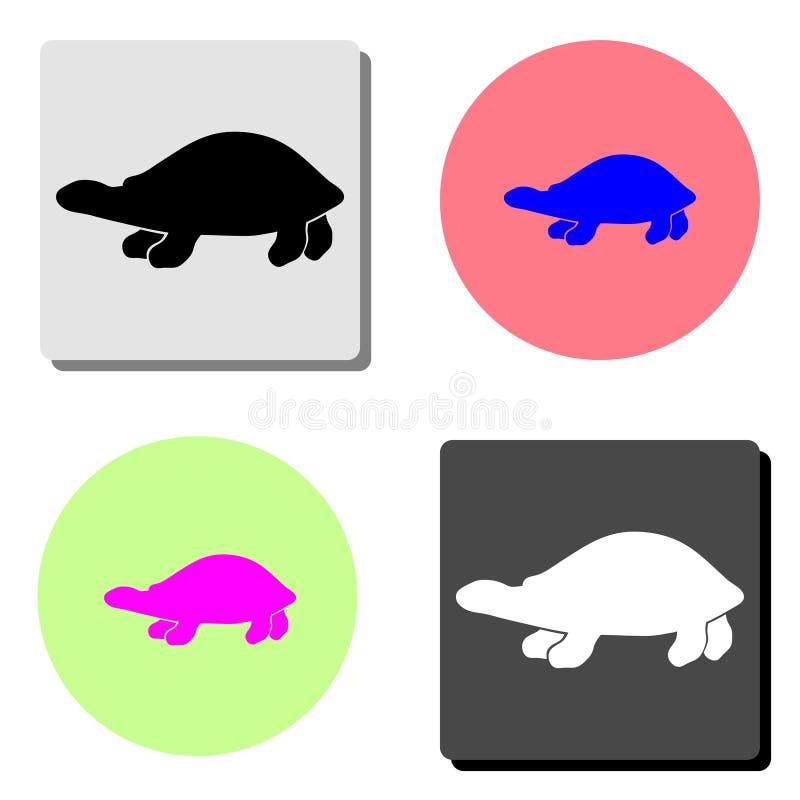 vermelha черепахи моря острова coroa Бахи Бразилии Плоский значок вектора иллюстрация штока