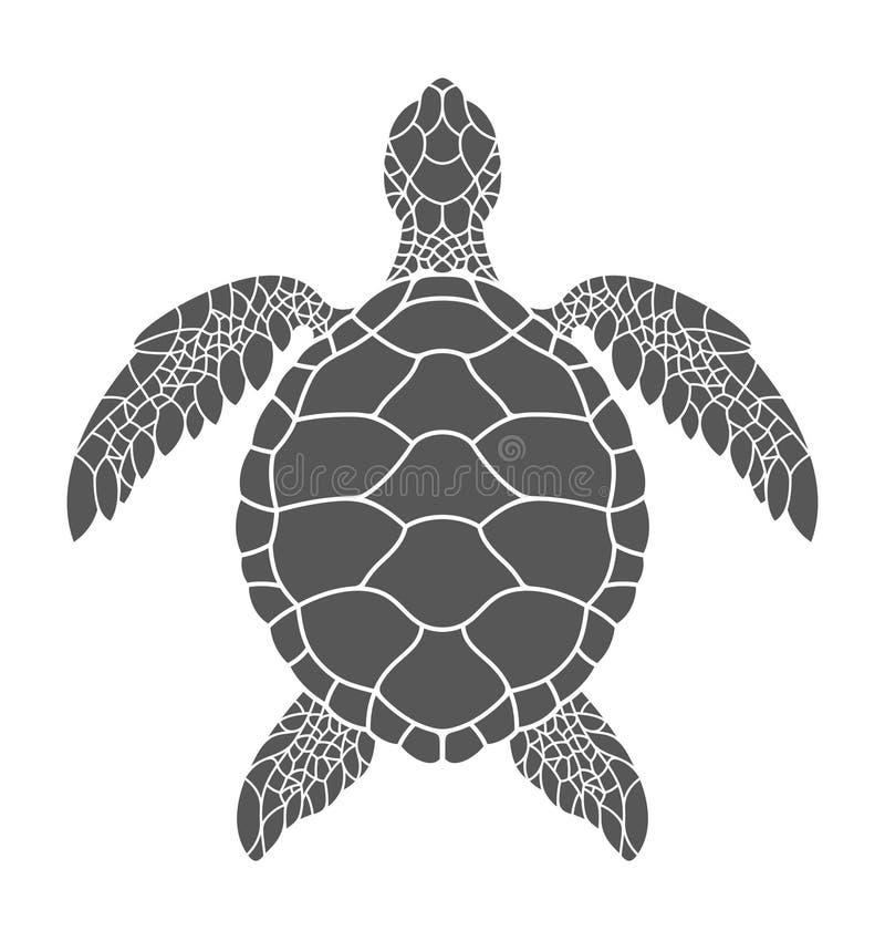 vermelha för sköldpadda för hav för bahia brazil coroaö vektor illustrationer