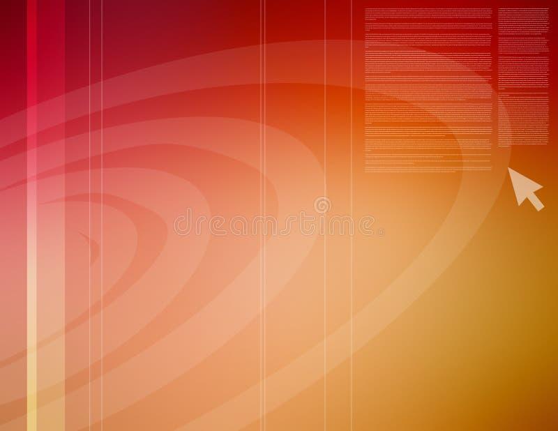 Vermelho abstrato ilustração royalty free