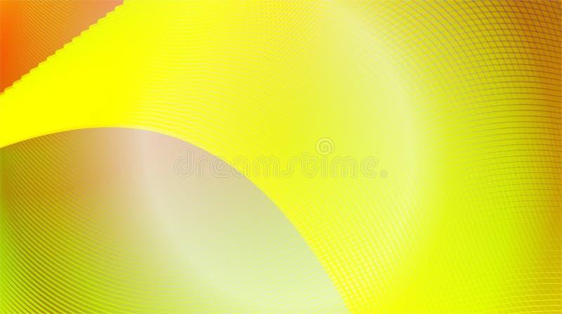Vermelho, amarelo, luz - linha verde vetor brilhante da curva do fundo ilustração do vetor