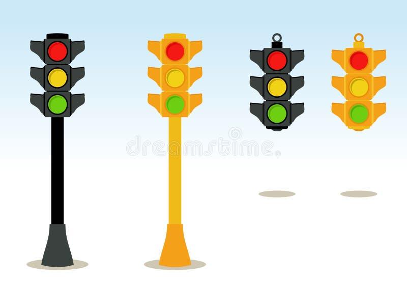 Vermelho, amarelo, verde ilustração stock