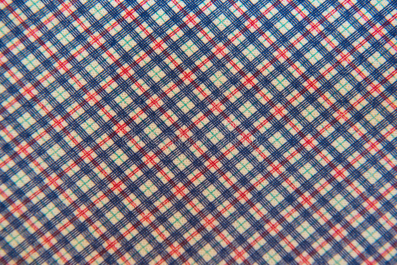 Vermelho azul branco da tela da manta do close up para o fundo fotografia de stock