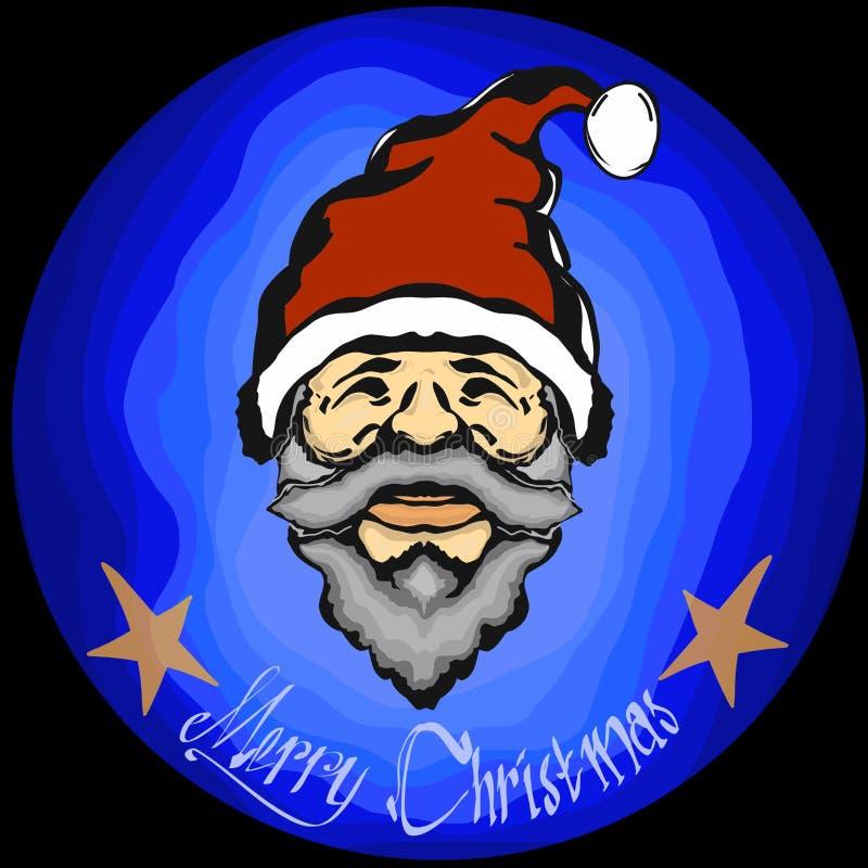 Vermelho azul dos sinterklas de Santa do ano novo feliz do Feliz Natal foto de stock