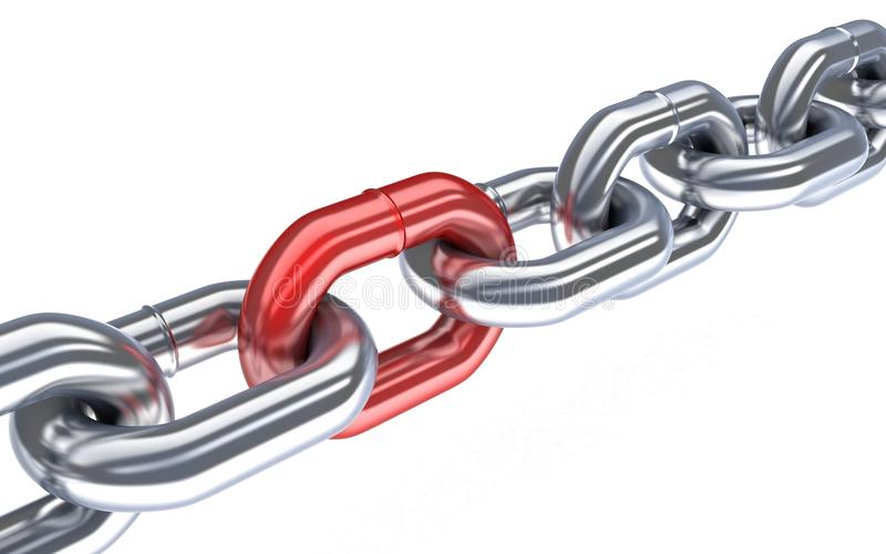 Vermelho Chain ilustração stock