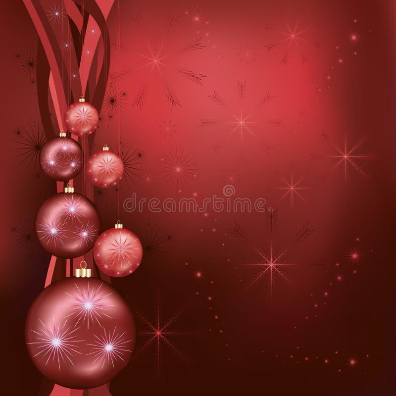 Vermelho comemorativo do fundo do Natal - preto ilustração royalty free