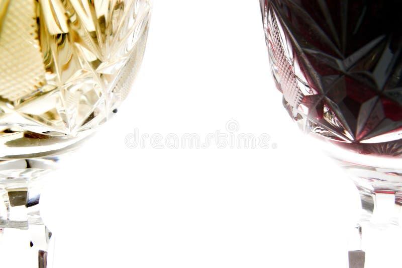 Vermelho contra o branco fotografia de stock