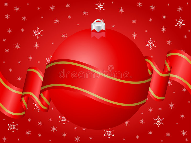 Vermelho da decoração do Natal ilustração royalty free