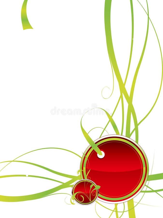 Vermelho da etiqueta ilustração do vetor